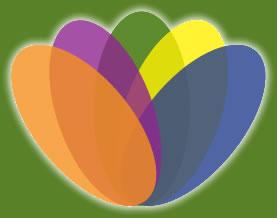 Logo bunte Blume